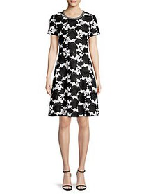 Karl Lagerfeld Paris Floral Embroidered A-Lined Dr