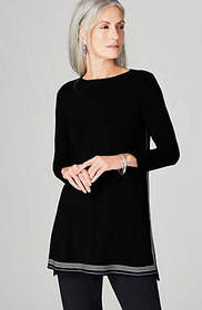Wearever Boat-Neck High-Low Tunic