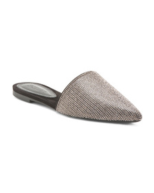 SCHUTZ Made In Brazil Embellished Pointy Toe Mules
