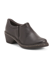 EASTLAND Slip On Heeled Leather Loafers
