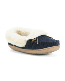 MINNETONKA Tracy Folded Suede Trapper Shoes