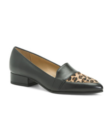 AVELLINI Made In Italy Leather Flats
