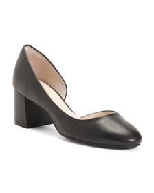 Reveal Designer Comfort Leather D'orsay Pumps