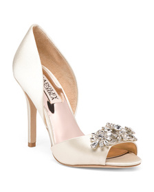 BADGLEY MISCHKA D'orsay Rhinestone Ornament Pumps