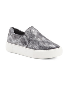 JSLIDES Leather Slip On Sneakers