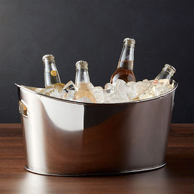Crate Barrel Small Oval Party Beverage Tub