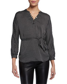 Marion by Etienne Marcel Polka Dot Long Sleeve Blo