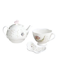 Lenox Butterfly Meadow Stacked Tea Set with Bag Ho