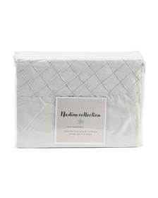 NADINE COLLECTION Pintuck Sheet Set