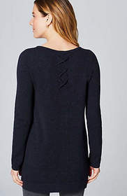 Cashmere Laced-Back Tunic