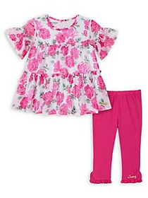 Juicy Couture Little Girl's Floral Top and Legging