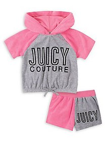Juicy Couture Little Girl's 2-Piece Colorblock Hoo