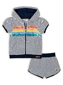 Juicy Couture Little Girl's 2-Piece Striped Cotton