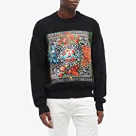 Versace Jeans Couture Knit Sweater with Optical Fl