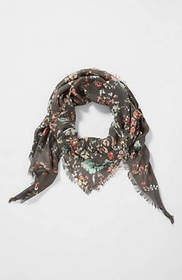 Pure Jill Falling Floral Triangle Scarf