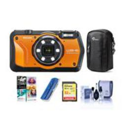Ricoh WG-6 Digital Camera, Orange - With Free PC A