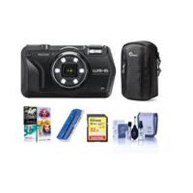 Ricoh WG-6 Digital Camera, Black - With Free PC Ac