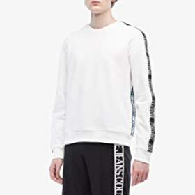 Versace Jeans Couture Logo Tape Crew Neck Sweatshi