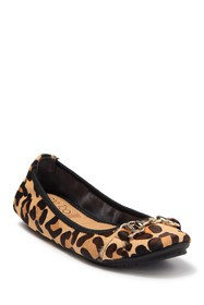 Me Too Olympia Genuine Calf Fur Double Ring Flat