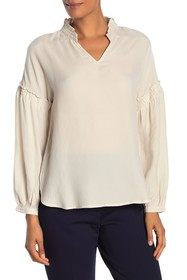 CURRENT AIR Frill Sleeve Blouse