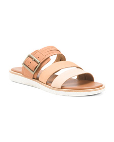 Reveal Designer Leather Slide Sandals