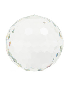 NICOLE MILLER Crystal Faceted Decorative Sphere