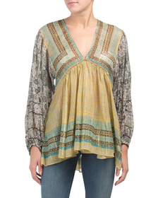 FREE PEOPLE Aliyah Printed Tunic