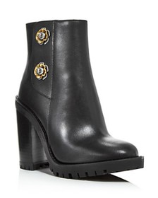 COACH - Women's Hana Block High-Heel Booties