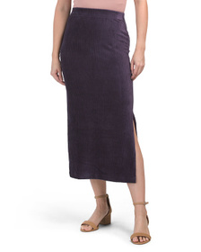 FREE PEOPLE Helen Ribbed Midi Skirt
