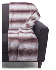 ASPEN Damson Faux Fur Throw In Gift Box