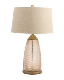 MASTERCRAFT LAMPS Textured Glass Table Lamp