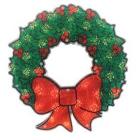 Northlight 15in. Holographic Christmas Wreath Wind