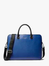 Michael Kors Henry Crossgrain Leather Briefcase