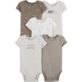 Carters Baby Boys 5-pk. Little And Loved Elephant