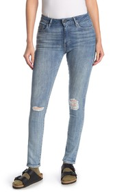 Levi's 721 Distressed High Waisted Skinny Jeans -