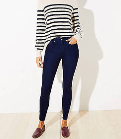 Petite Cozy Denim Leggings in Indigo