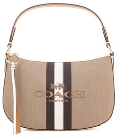 COACH Sutton Horse and Carriage Striped Crossbody