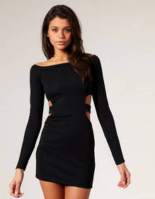 ASOS Cut Out Side Bodycon Dress