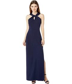 Bebe Scuba Crepe Long Gown