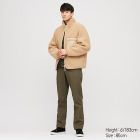 Men Windproof Stretch Slim-Fit Chino Pants, Olive,