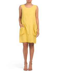 LUNGO L'ARNO Made In Italy Linen Dress