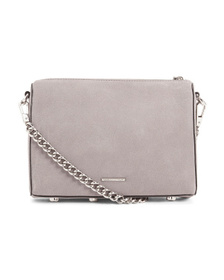 Reveal Designer Avery Suede And Leather Crossbody