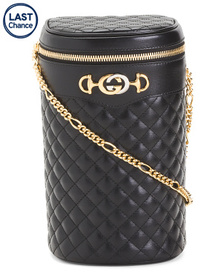 GUCCI Made In Italy Gg Marmont Quilted Leather Buc