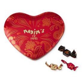 Maxim de Paris Red Chocolate Heart Tin