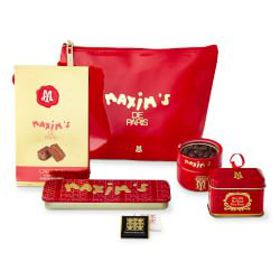 Maxim de Paris Red Chocolate Cosmetic Bag