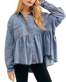 Free People - Dylan Babydoll Chambray Shirt