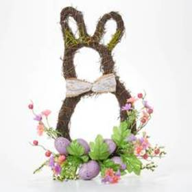 Easter Egg on Twig with Bunny