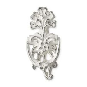 Fleur De Lis Antique White Door Knocker