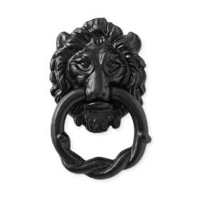 Black Iron Lion Door Knocker
