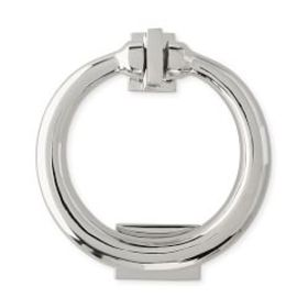 Modern Nickel Ring Door Knocker